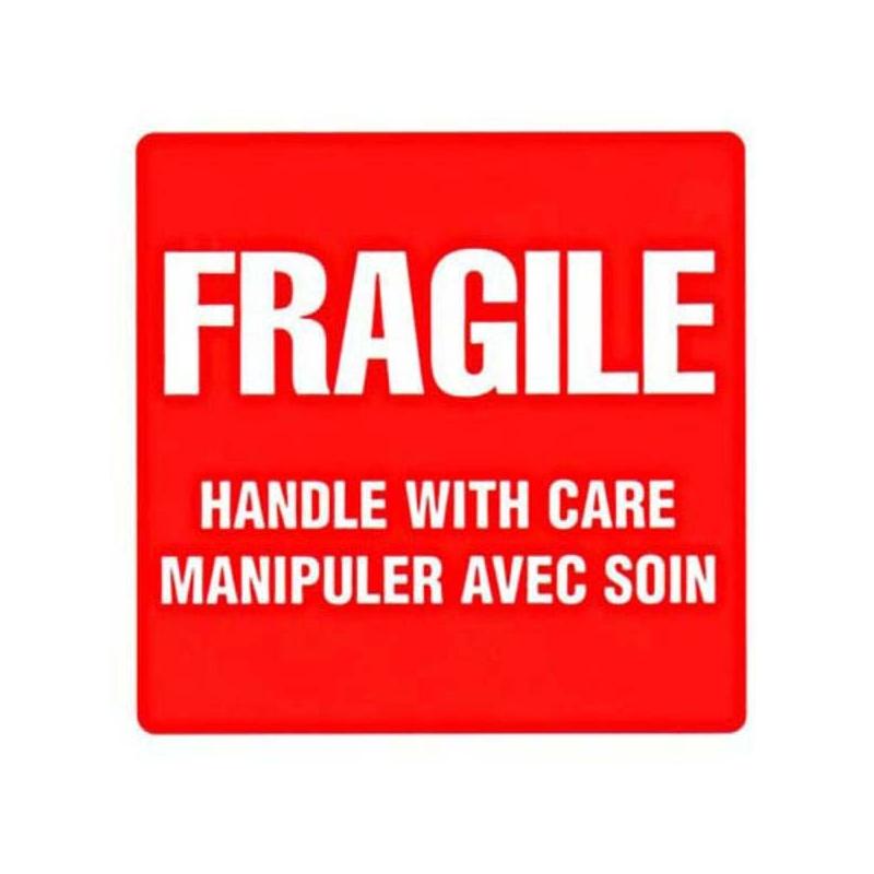 Très ÉTIQUETTE «FRAGILE MANIPULER AVEC SOIN» - Étiquettes d'expédition  KW95